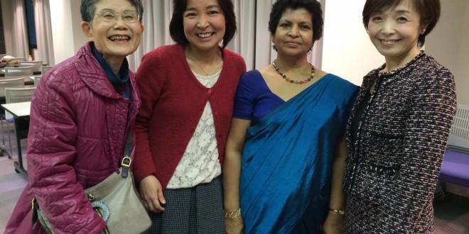Ms Tsukamoto with the delegates