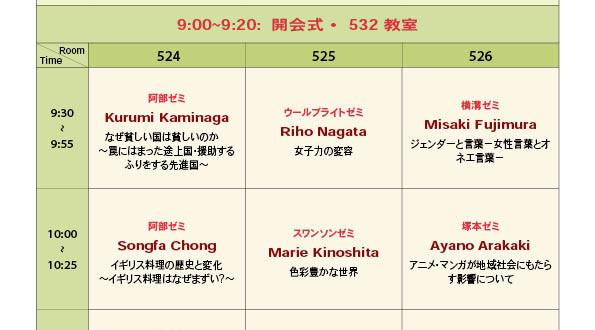 2015年度英語学科卒業論文発表会